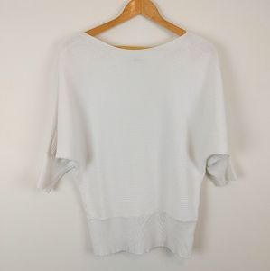 DYNAMITE   White Mid Sleeve Bat Wing Top